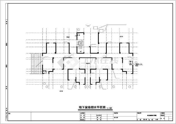 安徽三十三层住宅楼给排水施工图纸-图1