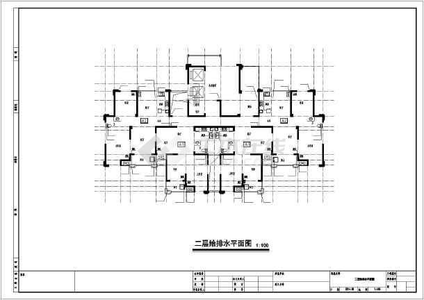 安徽三十三层住宅楼给排水施工图纸-图2