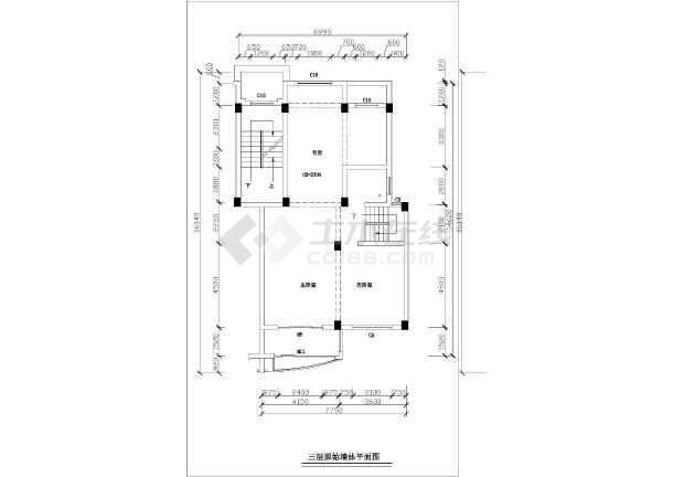 精细整套室内家装平面施工布置图-图1
