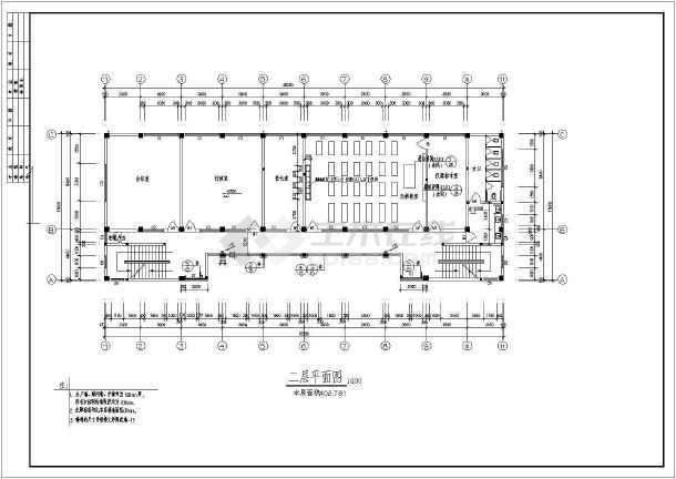 某地大堡小学全套建筑施工图(共15张)-图2