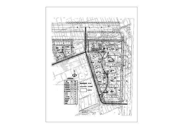 点击查看某市区住宅小区规划设计总图第1张大图