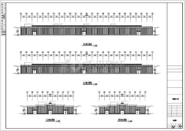 点击查看某汽车生产基地建筑结构cad图第1张大图