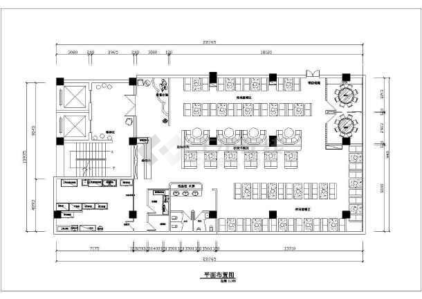 某大型火锅店全套装修设计施工图-图2