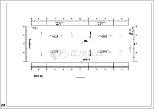某全钢筑超市建筑结构设计CAD图纸-图1