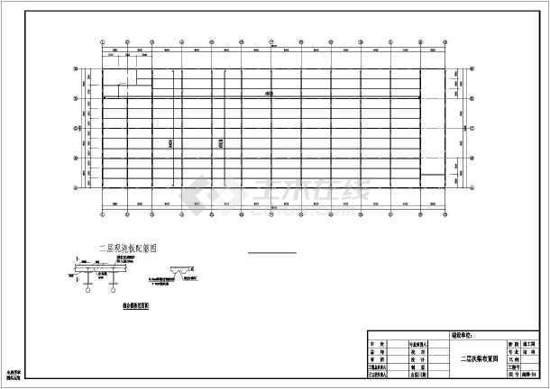 某全钢筑超市建筑结构设计CAD图纸-图3