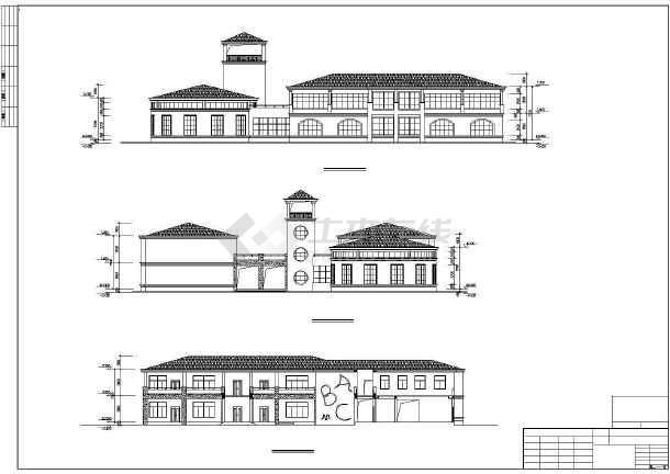 某地幼儿园建筑施工图(共4张)-图1