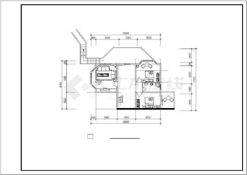 点击查看某地生态休闲别墅建筑设计图第1张大图