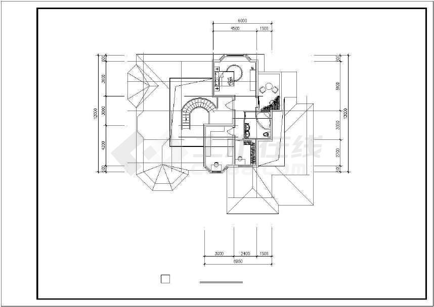 某地生态休闲别墅建筑设计图-图2
