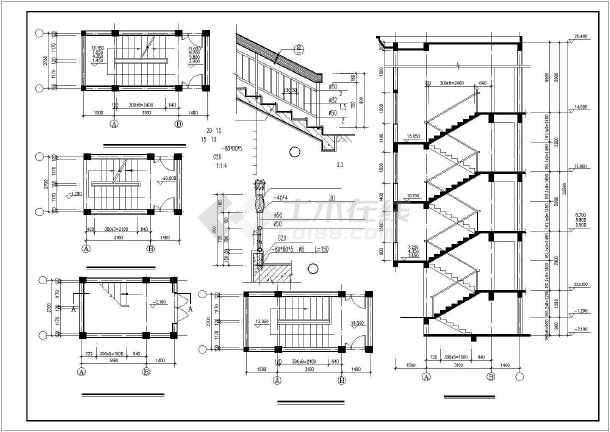 某市多层住宅楼设计cad建施图-图2