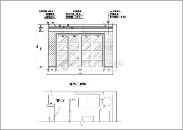 点击查看精致欧式住宅全套装修设计施工图第2张大图