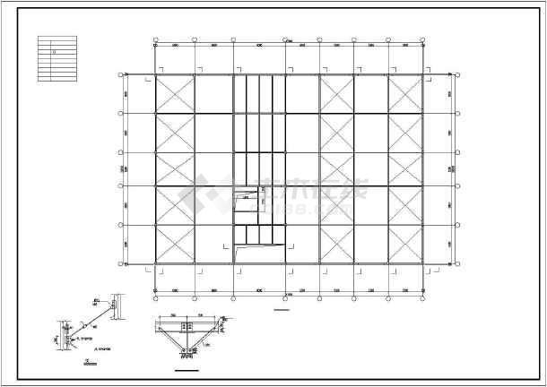 一套钢结构多层厂房cad设计施工图纸-图3