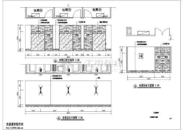 点击查看标准咖啡厅全套装修设计施工图第1张大图