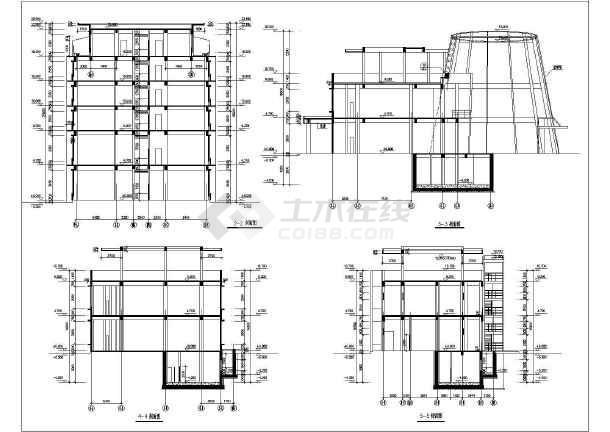 某大型生活小区建筑施工设计CAD总图-图1