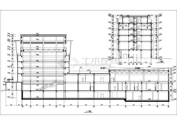 某大型生活小区建筑施工设计CAD总图-图2