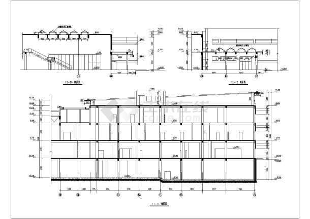 某大型生活小区建筑施工设计CAD总图-图3