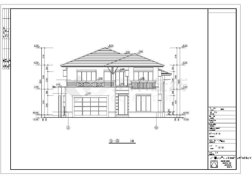 精致实用的别墅建筑施工图-图1