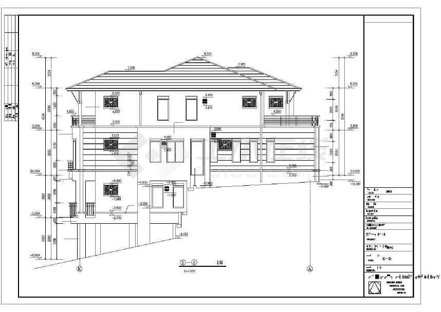 精致实用的别墅建筑施工图-图2