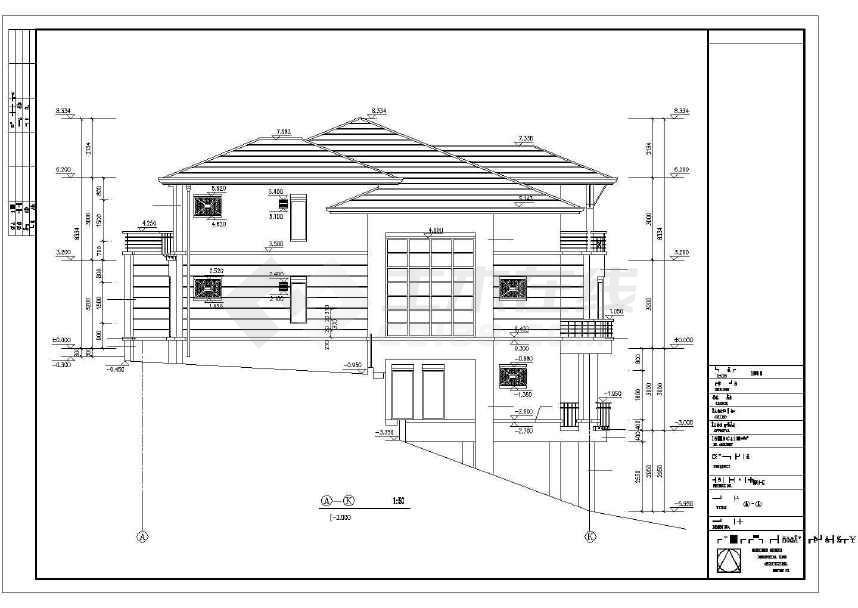 精致实用的别墅建筑施工图-图3