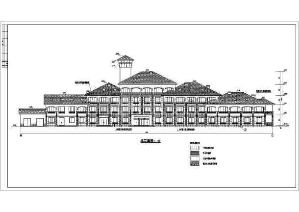 点击查看某市高档宾馆建筑结构cad设计施工图第1张大图