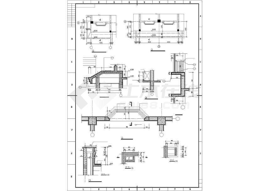 某地三层联排别墅建筑施工图-图2