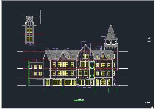某欧情商业街建筑施工图-图2