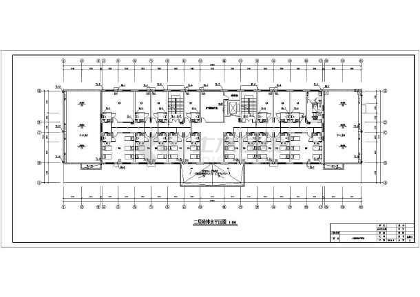 点击查看安徽老年公寓给排水施工图第2张大图