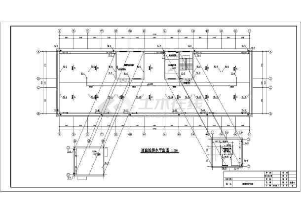 安徽老年公寓给排水施工图-图3