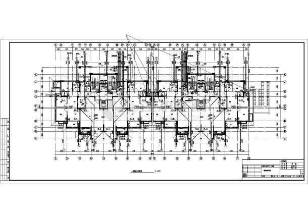 安徽高层住宅小区建筑给排水平面图-图1
