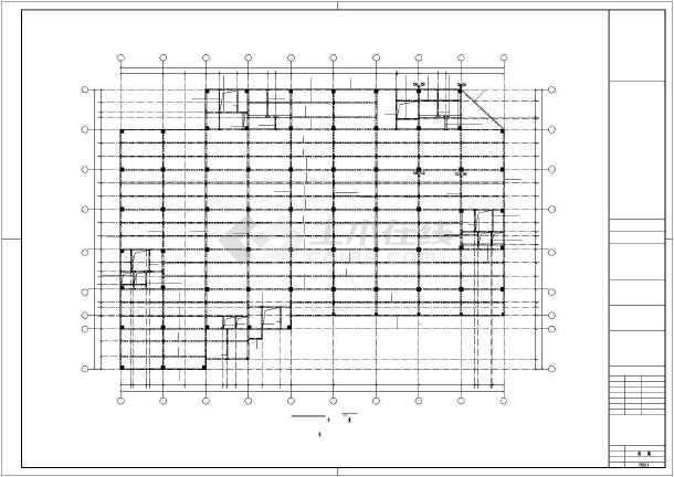 点击查看泰宁某框架厂房结构设计图第1张大图
