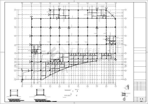 点击查看泰宁某框架厂房结构设计图第2张大图