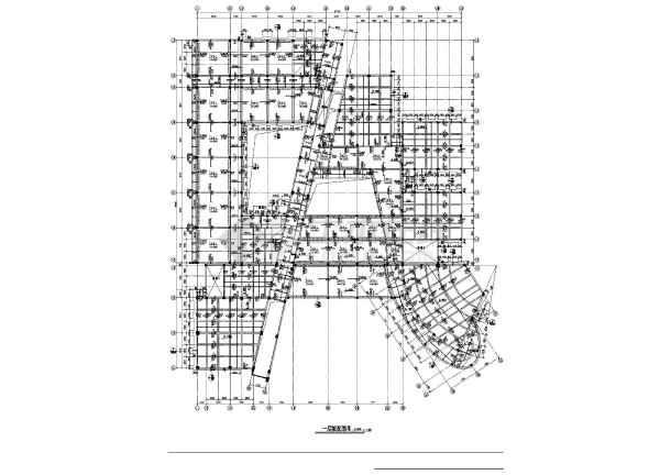 点击查看某地区教学楼建筑结构cad图第1张大图