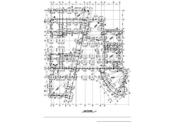 某地区教学楼建筑结构cad图-图1