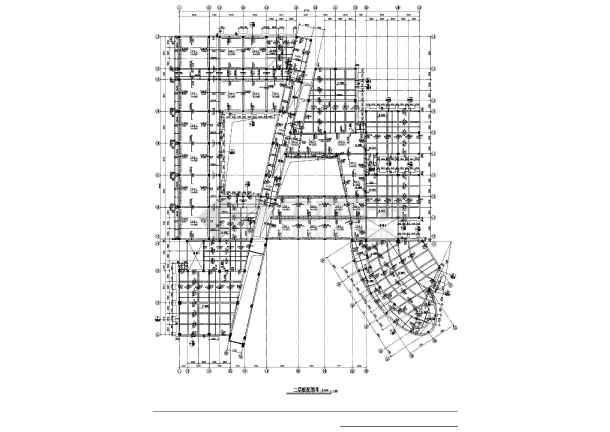 某地区教学楼建筑结构cad图-图2