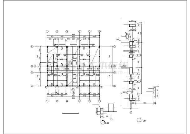 某五层框架卫生院结构设计图-图3