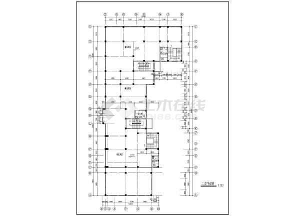 九龙园多层住宅楼建筑施工设计CAD图-图1