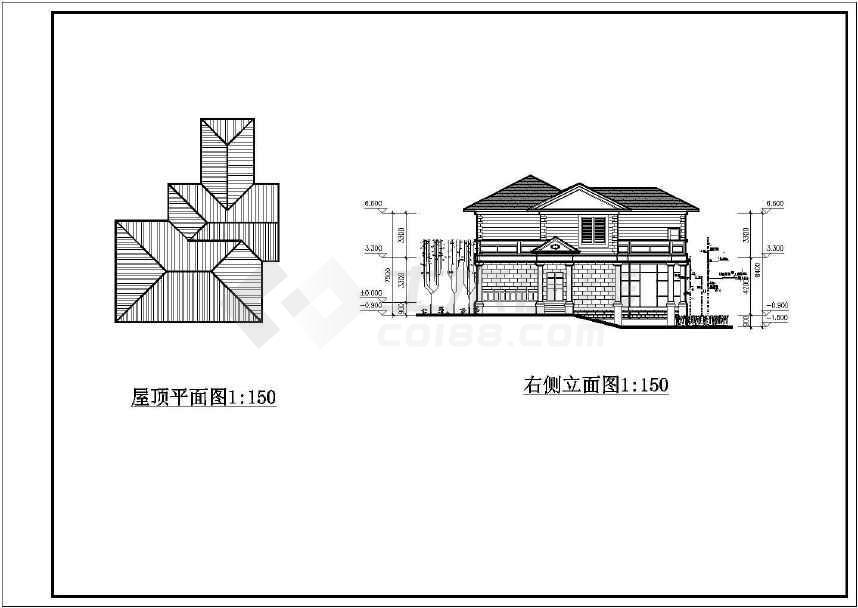 某地别墅式接待中心建筑设计图-图1