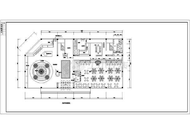 点击查看某饭店整套室内装修建筑方案图纸第1张大图