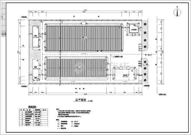 某厂房建筑施工图附总图-图1