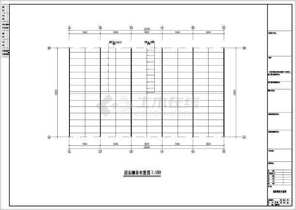 某地钢结构厂房CAD建筑图纸-图1