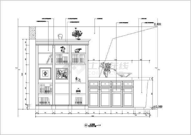 某经典的住宅施工设计CAD图-图1
