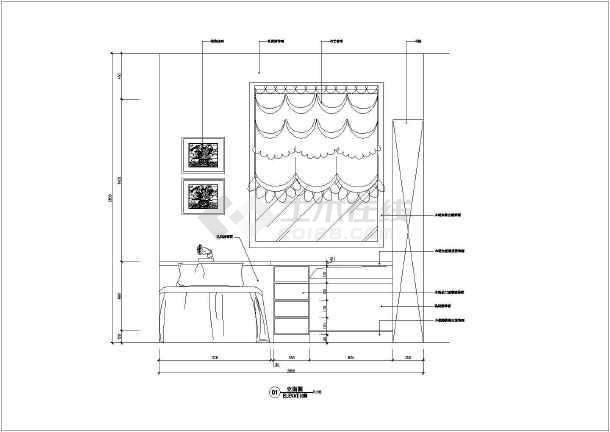 某经典的住宅施工设计CAD图-图2