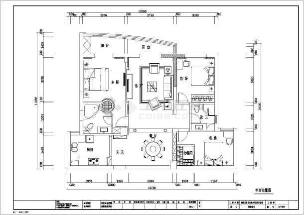 点击查看欧式三房住宅全套装修设计施工图第2张大图