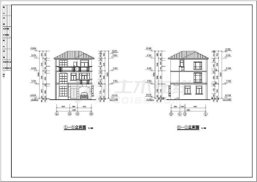 精致详细的别墅建筑设计图-图2