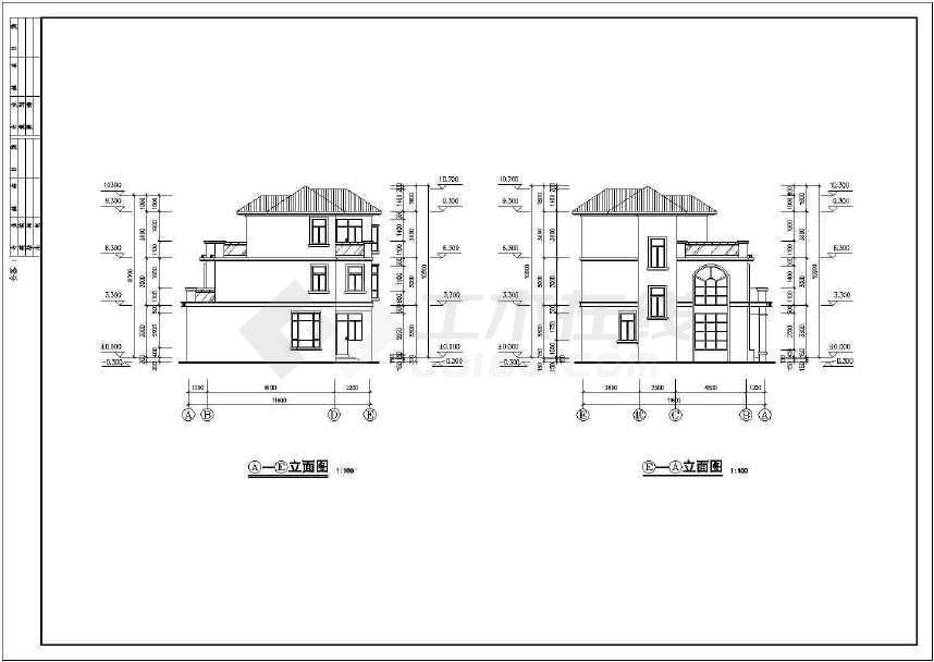 精致详细的别墅建筑设计图-图3