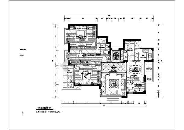 星海家苑三居室全套装修设计图纸-图2