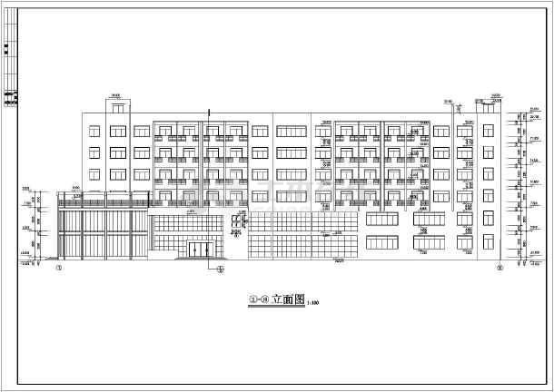 某公司宿舍楼建筑设计cad施工图-图1