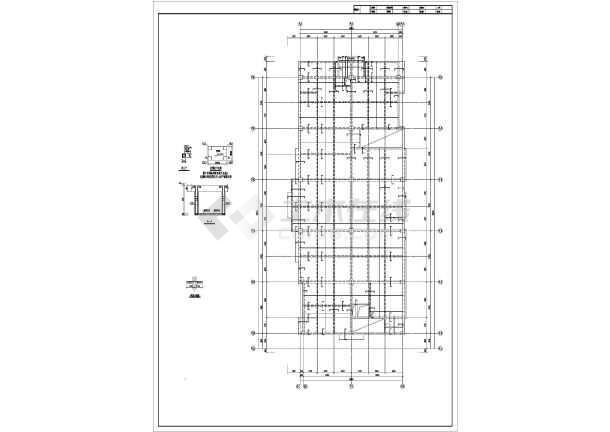 四平某住宅楼结构设计图-图一
