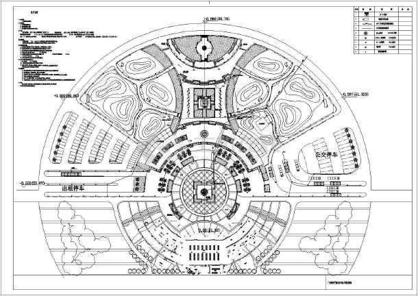 某地比较经典的广场电气cad设计图-图2
