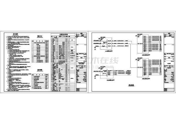某中型别墅整套电气设计施工CAD图-图1
