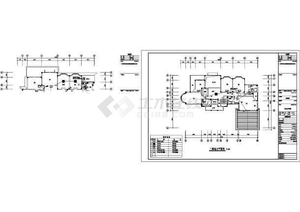某中型别墅整套电气设计施工CAD图-图3